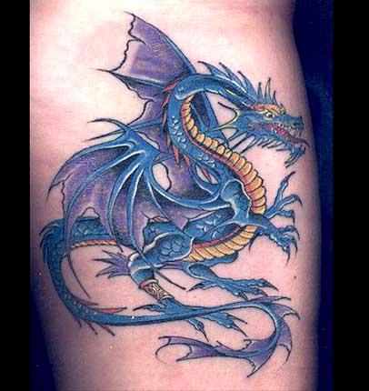 Татушка дракона своими руками